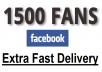 Give Real 1500 Plus Facebook Fanpage Likes