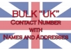 Give You 1000 UK Contact Number with Name and Address