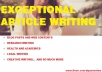 write premium original articles on any niche of 1000 words