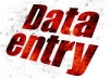 complete your data entry task