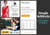 design creative animated HTML5 banners for Google AdWords
