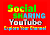 Deliver 400+ Social Media Shares to your YouTube video
