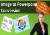 convert image, psd, or pdf into an editable powerpoint slide