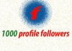 give 1000 facebook Followers only