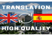 Translate 550 Words From English Into Spanish And Vice Versa