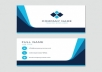 design business card with to concepts