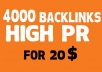 Provide 4000 VIP SEO Backlinks From 7 Top Platforms