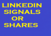 give 500+ Linkedin Shares/Signals for your website/youtube video in short time