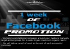 be your official facebook music promoter for 1 week