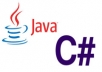 code anything in Java or C# for you