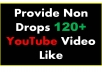 Manually Add 120+ 100% Real YouTube Video Likes