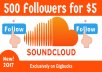 Promote Your Account to Get 500 SoundCloud Followers in 3 days