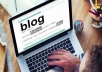 Create a blog for you In one day.