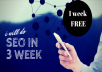 do SEO for you website 1 week FREE