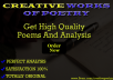 write original poetry and literature