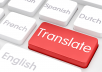 translate all your documents from English to any other language