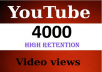 give 4000 YouTube Views to Your Video