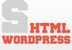 I'll convert your HTML and CSS based design into a WordPress blog theme, allowing you to take full control of the look of your blog.