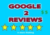 post 2 positive reviews on Google page