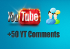 give 50+ Custom Youtube positive comments in 24 Hours! -Great Service - Fast Delivery - High Quality - 100% SAFE!!!