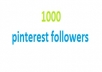 add 1000 Pinterest Followers in your Page