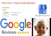 Post two positive reviews on your Google Business, includes FREE BONUS!