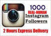 add 1000 instagram followers or 2000 post likes or 2500 post views