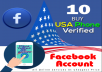 Create you 10 USA Phone verified Facebook Accounts