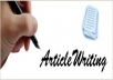 write best Article for you