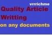 write high quality 400 words article writing within 72 hours