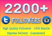 add 2200 twitter followers or 2200 Instgram followers