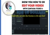 edit your Video with Camtasia 9 or Give My Cam Software