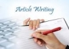 write any quality and genuine article documents