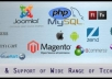 do Php, Mysql, WordPress, Joomla, Html/css, Magento work for $5