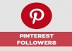 provide 400+ Pinterest Followers Permanent
