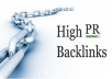 provide High PR Back links for your Website