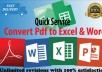Convert Pdf To Excel And Convert Pdf To Word