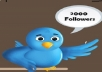 give 2000 real twitter followers, permanent