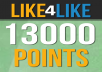 give you 13000 Like4Like points