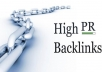 create 7 actual high page pr links of pr 5 + Bonus