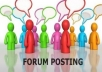 Do Manually PREMIUM 5 Authority Forum Posting Links from DA50+ to Boost Your Rank