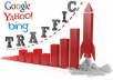 UNLIMITED HUMAN TRAFFIC BY Google Twitter Youtue and many more to web site for 30 days
