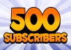 Get 500+ Permanent YouTube Subscribers