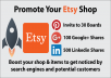 Promote Etsy Shop By Inviting You To 30 Pinterest Boards 100 G+ 500 Linkedin Share