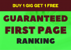guarantee first page ranking high pr SEO backlinks