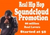 Promote your soundcloud music to 30k plays