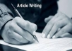 write article writing and creative writing and blogs of any topic