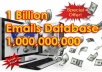 Give 1 billion worldwide emails database
