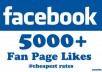give you 5000 facebook likes for pages