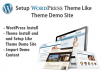 install wordpress theme and setup like theme demo